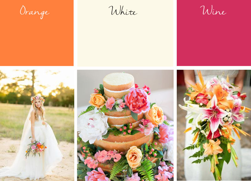 Blog boho color palette phuket beach wedding phuket wedding planner wedding color palette vivid boho orange white wine junglespirit Gallery